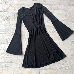 Topshop | Black Silky Dress